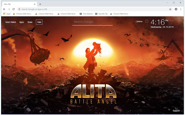 Alita Battle Angel HD Wallpapers New Tab