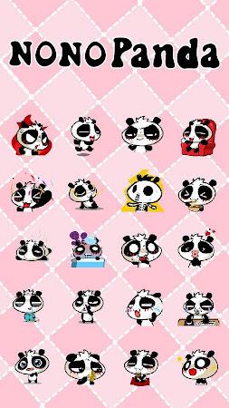 GO Keyboard nono panda Sticker 1.3 screenshot 735549