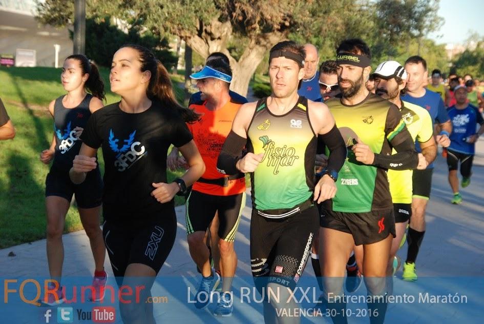 Entrenamiento Maratón Long Run XXL Valencia 2016