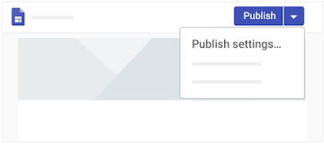 Save a new URL from the Publish settings window, an option that appears in the menu next to Publish