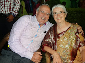 Photo: The Indian shirt I am wearing was also a gift from Suzane's family.