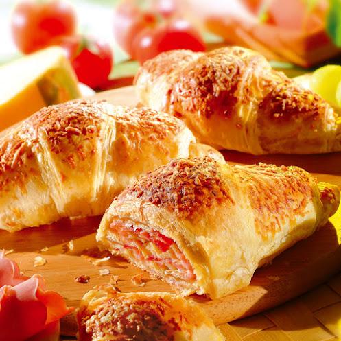 Abbildung Schinken-Käse-Buttercroissants