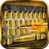 Gold Cool Gun Keyboard Theme Android APK Download Free By Love Cute Keyboard