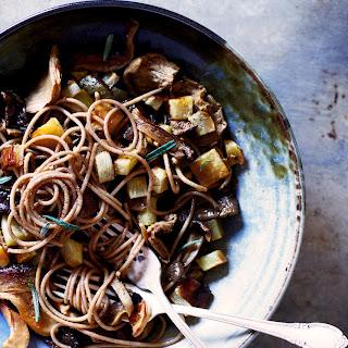 Wild Mushroom, Turnip, & Saffron Spelt Pasta