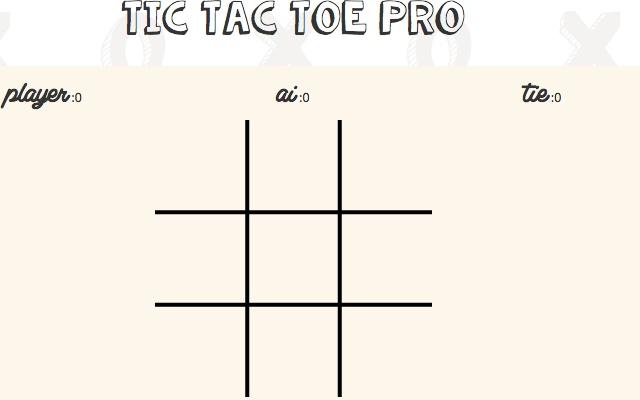 Tic Tac Toe Pro  Chrome Web Store