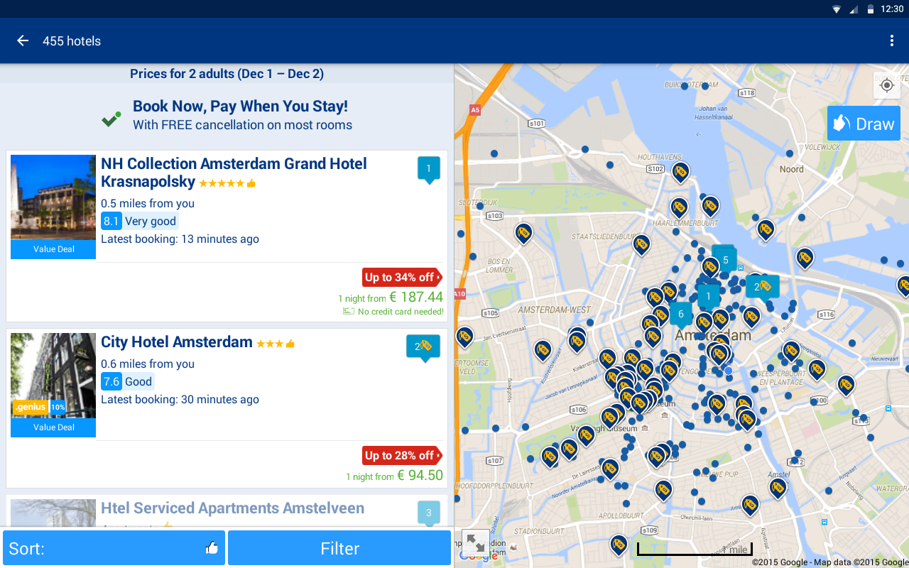 Booking.com Hotel Deals- screenshot