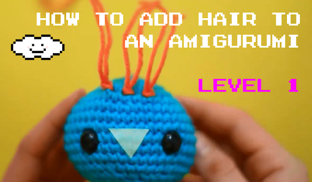 Learn How to add hair to Amigurumis in an easy way