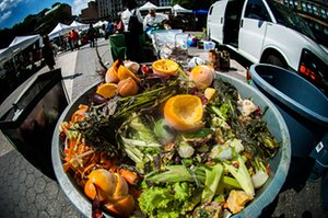 Compost collection at Union Square Greenmarket in New York