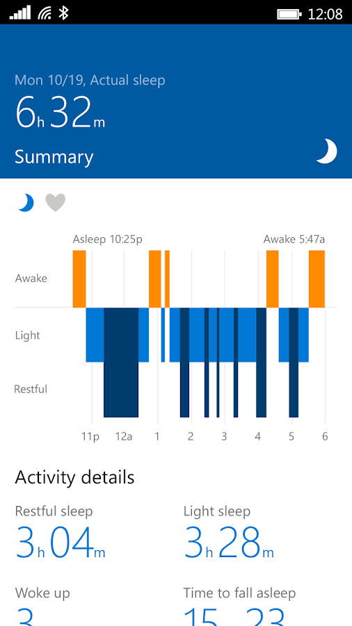 Microsoft Band- screenshot
