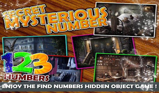 Hidden Objects Secret Mysterious Number