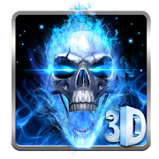 App 3D Blue Fire Skull Theme Launcher APK for Windows Phone