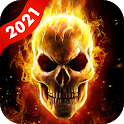 Flame Skull Live Wallpaper icon