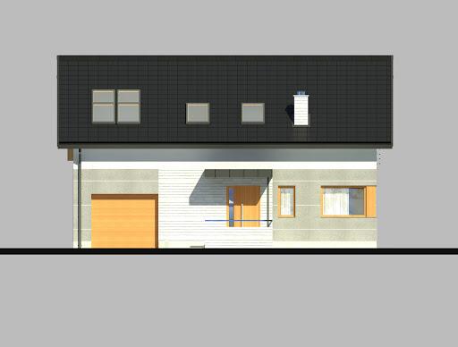 LIM House 04 - Elewacja przednia