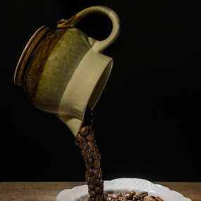 by Luca Arșinel - Artistic Objects Cups, Plates & Utensils ( idea, coffee beans, coffee, conceptual )