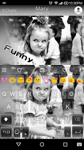 Funny Kid Emoji Keyboard Theme