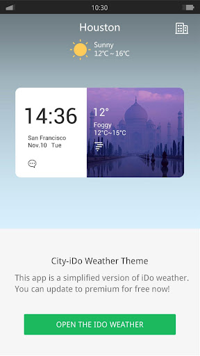 City - iDO Weather widget