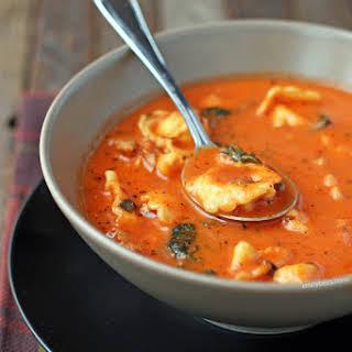 Sausage and Tortellini Tomato Soup.