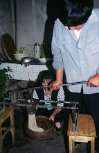 Photo: 03539 土城子/食堂/ユウマイ押し出し麺作り