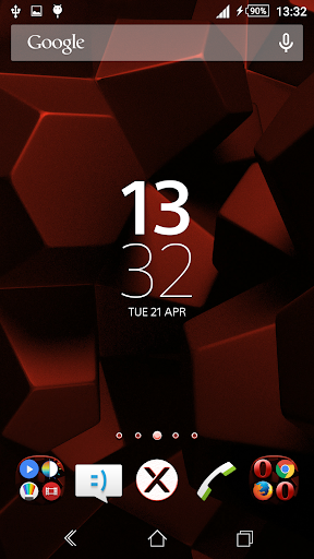 Theme Xperien Cubes Red