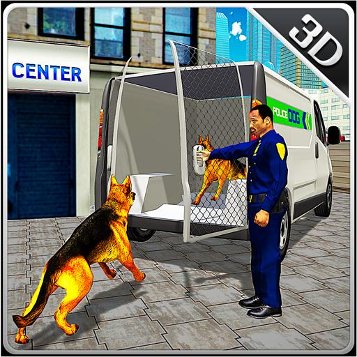 Police Dog Transport Truck Sim