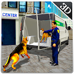 Police Dog Transport Truck Sim Icon
