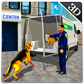 Police Dog Transport Truck Sim