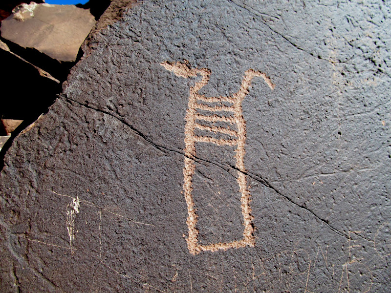 Photo: Unusual snake petroglyph