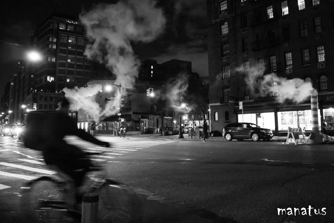 humo en las calles de nueva york