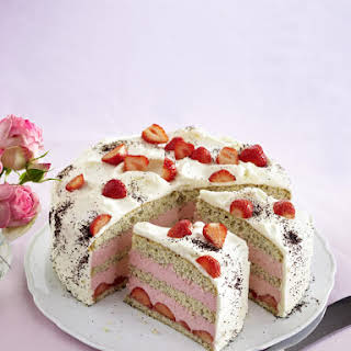 Strawberry Lemon Poppy Seed Cake.