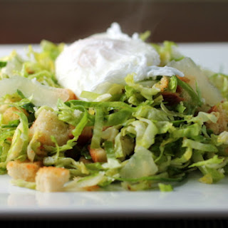 Shredded Brussels Sprout Salad with Warm Lemon-Chili Vinaigrette Recipe