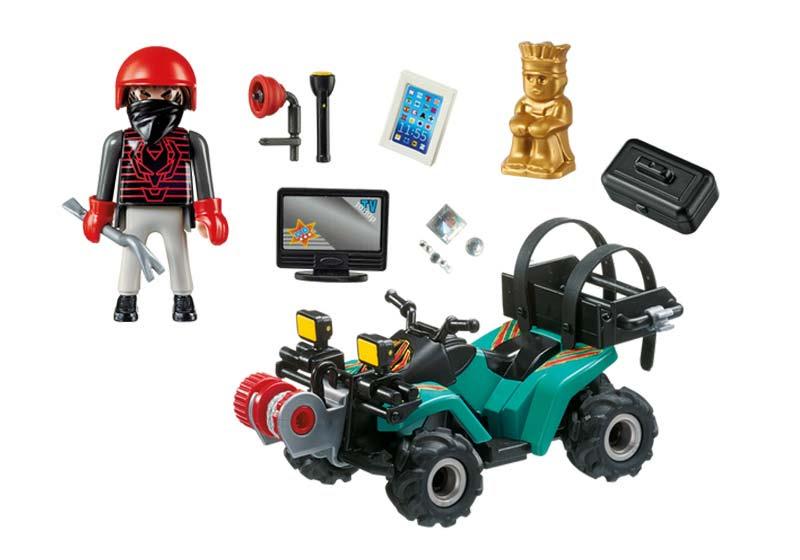 Contenido de Playmobil® 6879 Ladrón con Quad y Botín