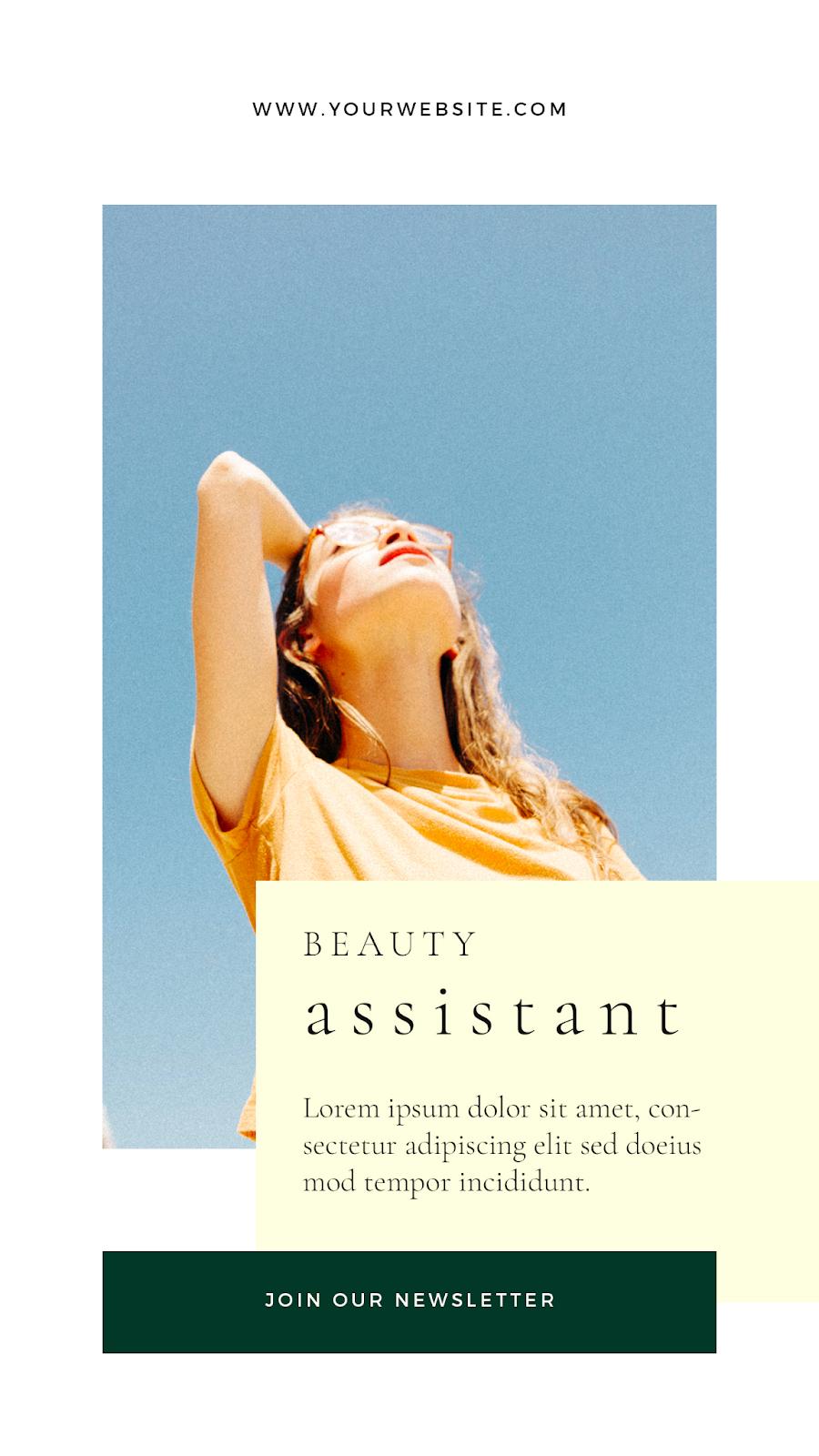 Graphics Eggs Beauty Assistant Instagram Stories Templates