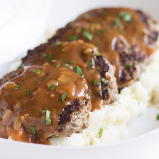 Skillet Meatloaf with Pan Gravy.