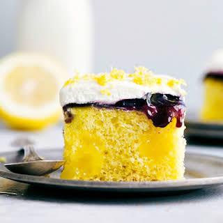 Lemon Blueberry Poke Cake.