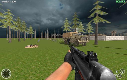 Commando Behind Sniper War