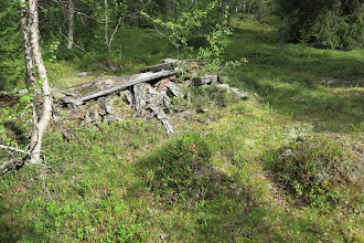 Photo: Kåtatomt vid Rasteselet