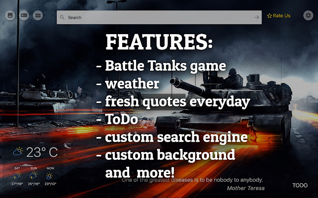 Classic Battle Tanks game New Tab