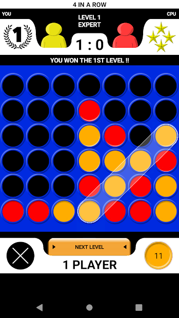 4 in a row - Board game for 2 players Android App Screenshot
