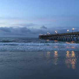 Surfside Pier by Brittany Davis - Uncategorized All Uncategorized ( beautiful, pier, ocean, beach, morning,  )