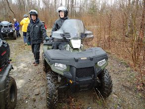 Photo: Sat, May 14/11 SBC ATV Day - Allison and Marion baptize their new wheeler on its maiden voyage