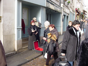 Photo: And a little street music. Always hard to resist a Parisian woman playing an accordion. The songs must be well-known, since a number of people were singing along.