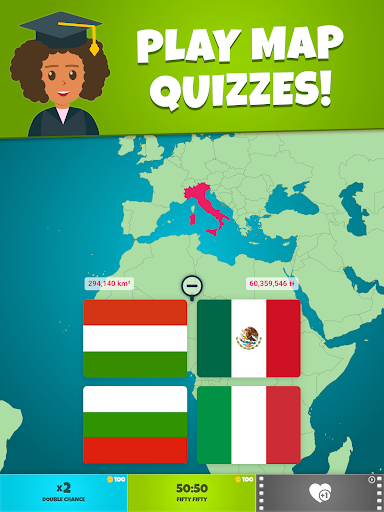Flags of the World 2: Map - Geography Quiz screenshots 9