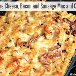 Gruyere, Bacon and Sausage Mac and Cheese.