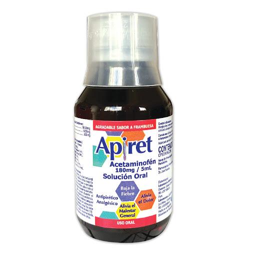 Acetaminofen Apiret 180mg/5mL Solucion 60ML