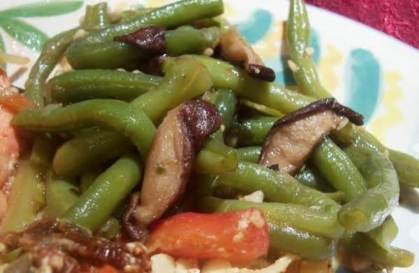 Green Beans With Shiitake Mushrooms Recipe
