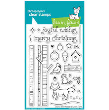 Lawn Fawn Clear Stamps 4X6 - Joy To The Woods