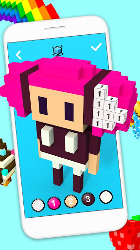 3D Pixel Art - Color By Number & Sandbox Coloring game (apk) free download for Android/PC/Windows screenshot