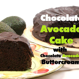 Chocolate Avocado Cake With Chocolate Avocado Buttercream.