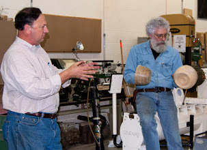 Photo: Stan Wellborn presents his two bowls finished in a similar finishing technique and wondered how they compare.
