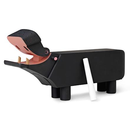 Kay Bojesen Flodhäst svart